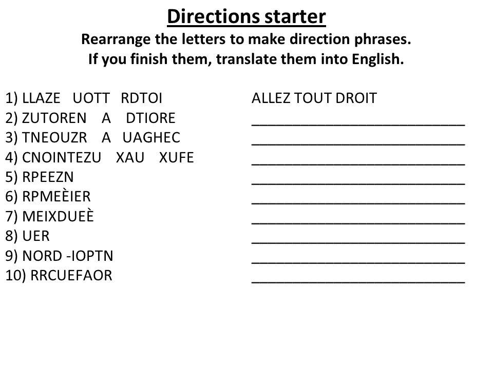 If you finish them, translate them into English.