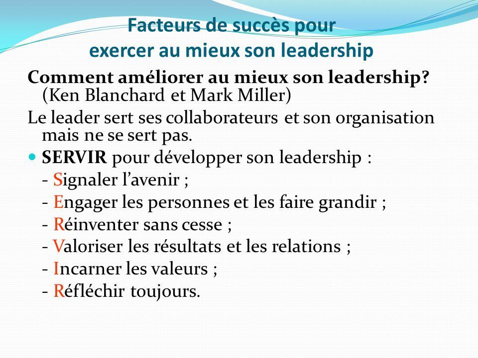 Facteurs de succès pour exercer au mieux son leadership