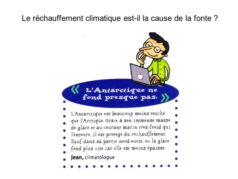 Le réchauffement climatique est-il la cause de la fonte
