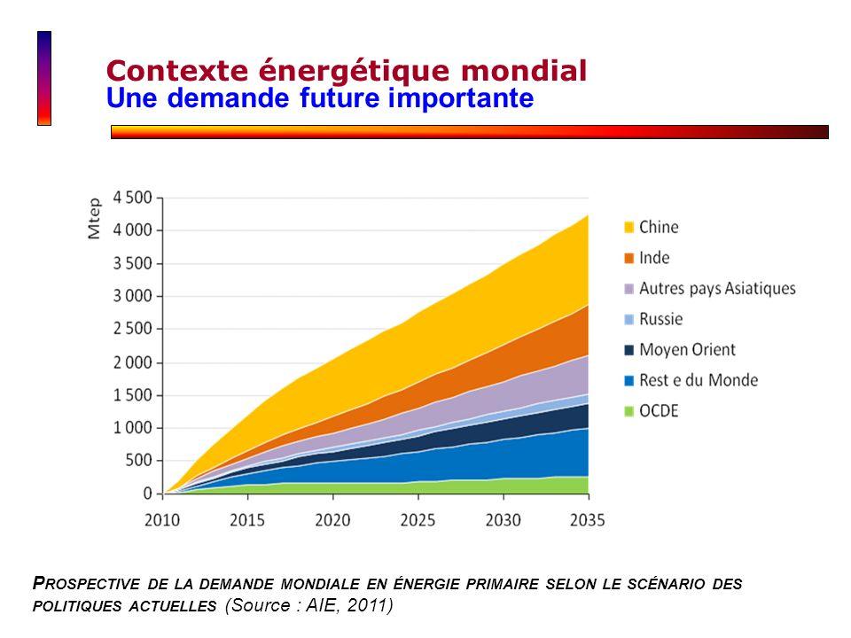 Contexte énergétique mondial Une demande future importante