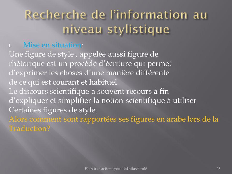 Recherche de l'information au niveau stylistique