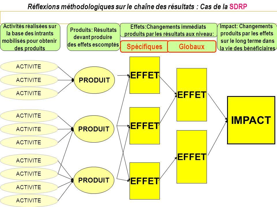 Réflexions méthodologiques sur le chaîne des résultats : Cas de la SDRP