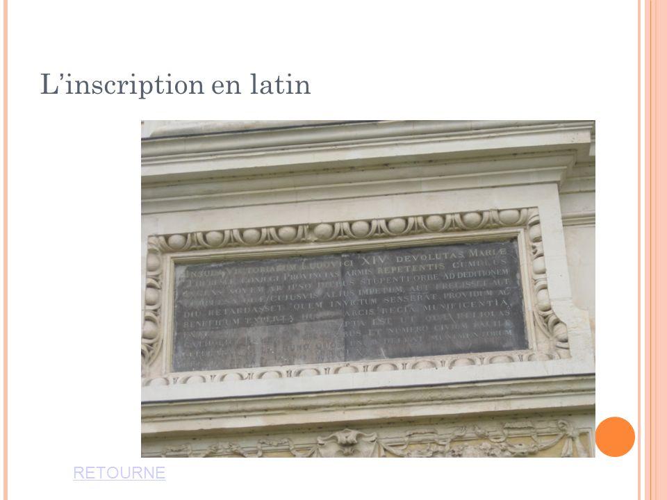 L'inscription en latin