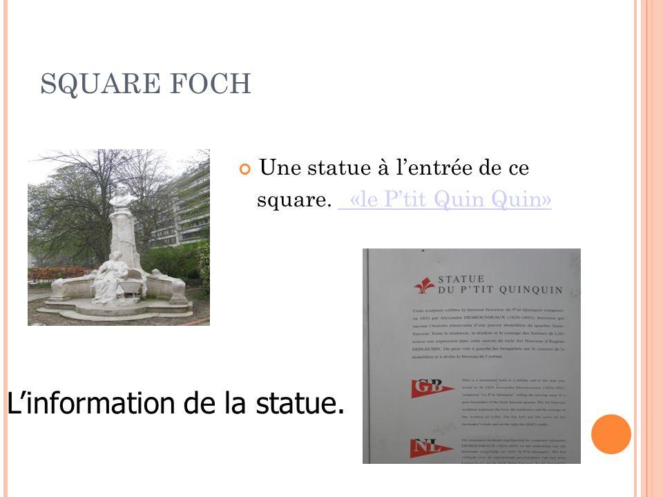 L'information de la statue.