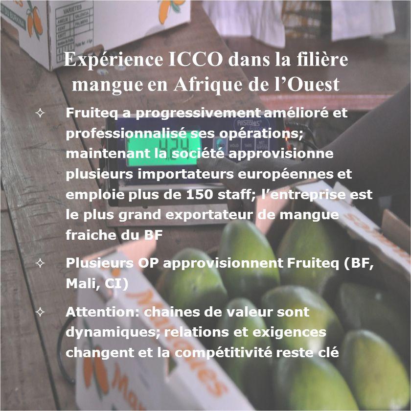 Expérience ICCO dans la filière mangue en Afrique de l'Ouest