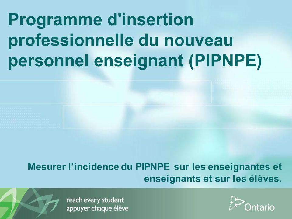Programme d insertion professionnelle du nouveau personnel enseignant (PIPNPE)
