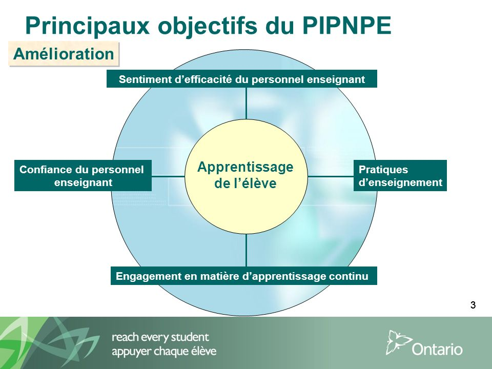Principaux objectifs du PIPNPE