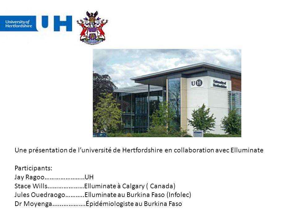 Une présentation de l'université de Hertfordshire en collaboration avec Elluminate