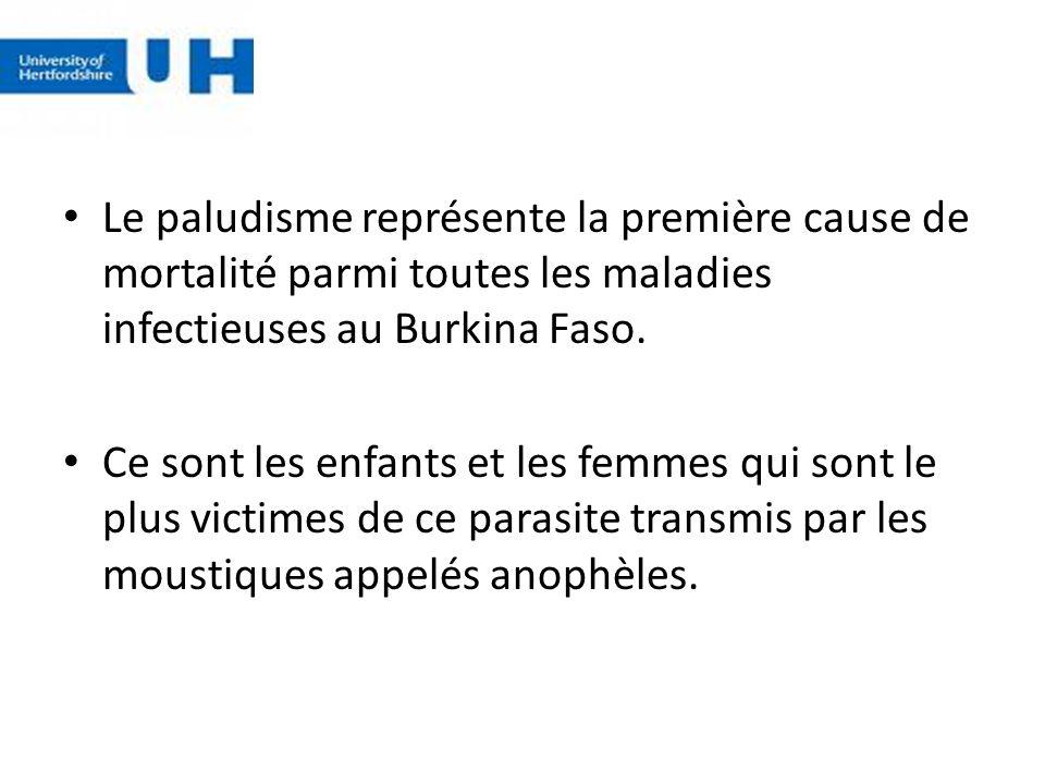 Le paludisme représente la première cause de mortalité parmi toutes les maladies infectieuses au Burkina Faso.