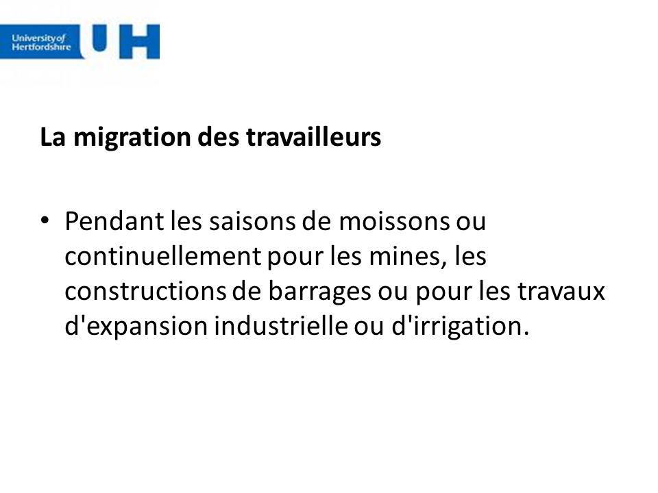 La migration des travailleurs