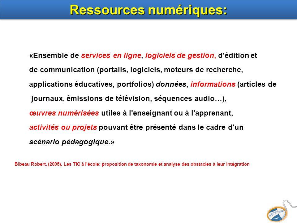 Ressources numériques: