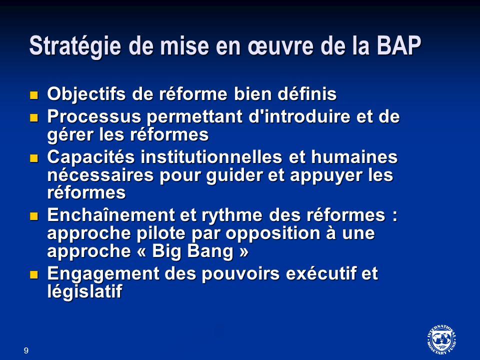Stratégie de mise en œuvre de la BAP