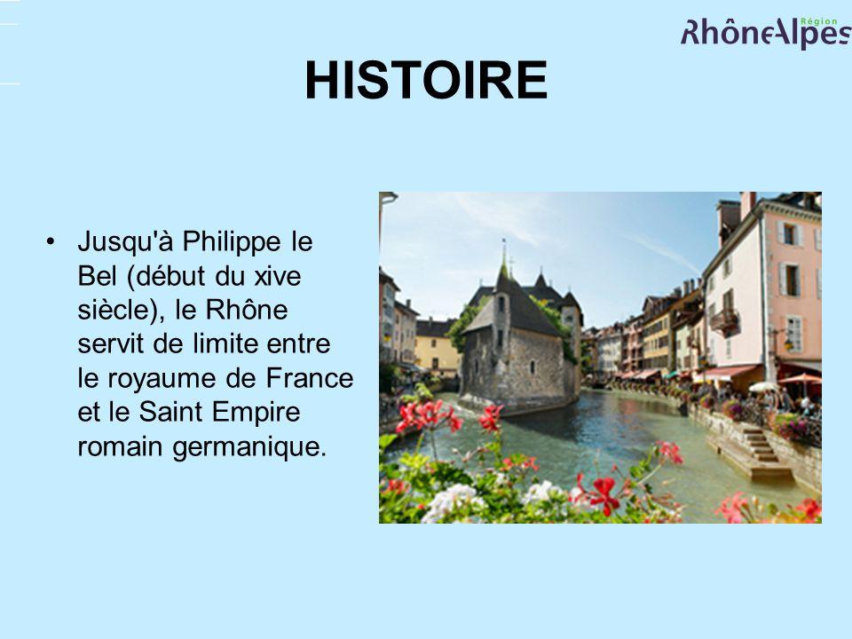 HISTOIREJusqu à Philippe le Bel (début du xive siècle), le Rhône servit de limite entre le royaume de France et le Saint Empire romain germanique.