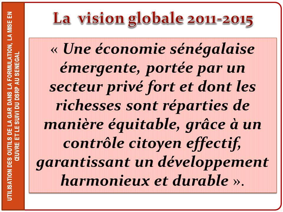 La vision globale 2011-2015