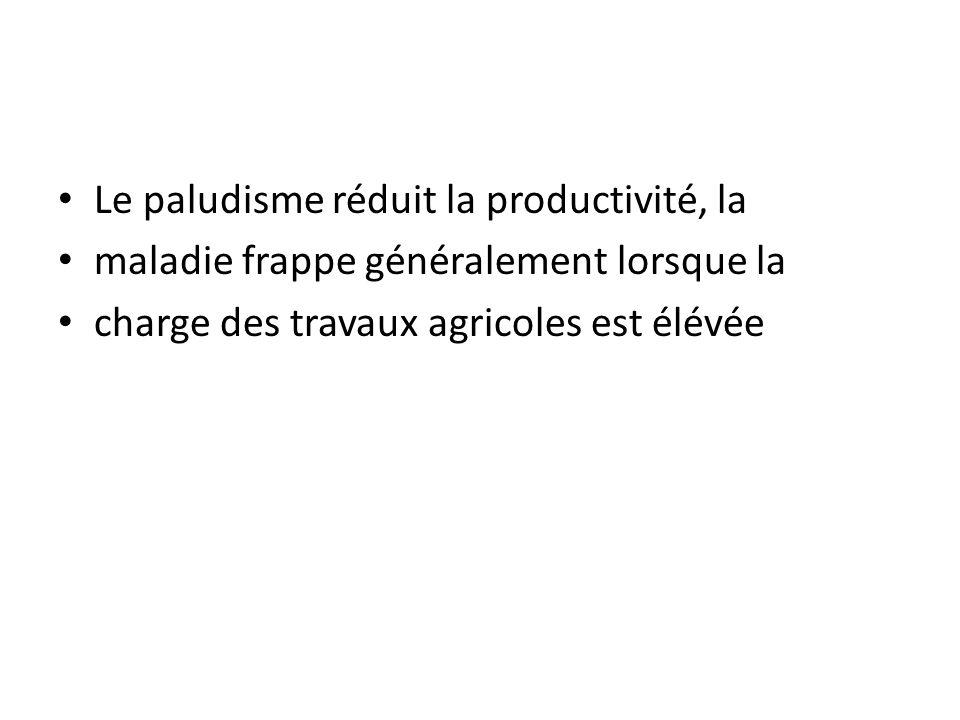 Le paludisme réduit la productivité, la