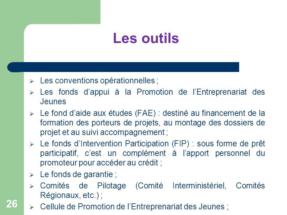 Les outils Les conventions opérationnelles ;