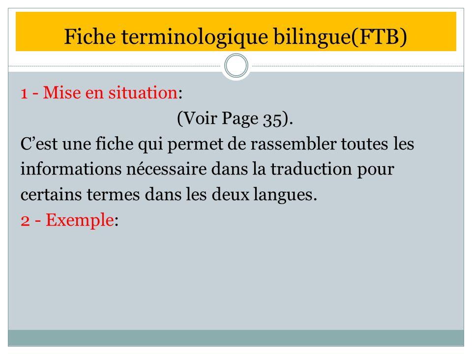 Fiche terminologique bilingue(FTB)
