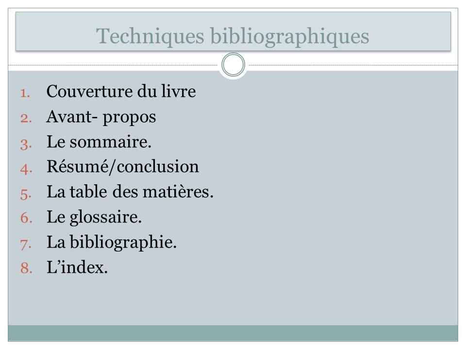 Techniques bibliographiques