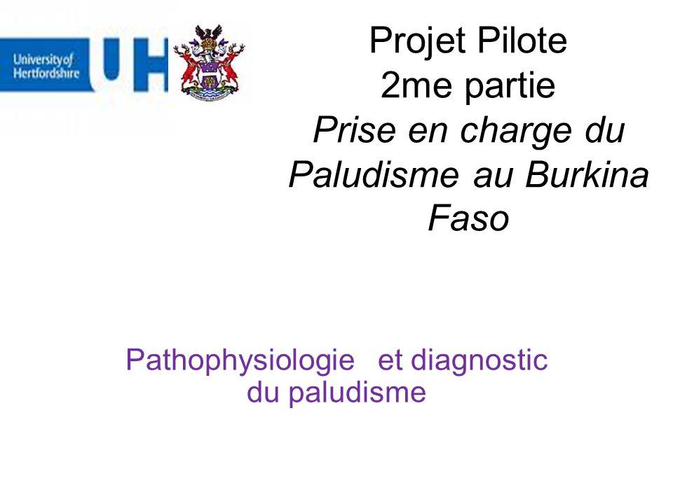 Projet Pilote 2me partie Prise en charge du Paludisme au Burkina Faso