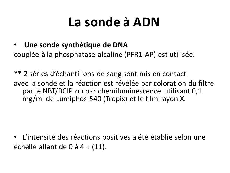 La sonde à ADN Une sonde synthétique de DNA