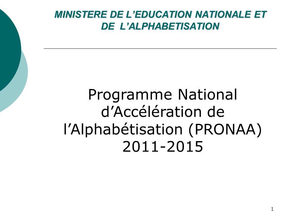 MINISTERE DE L'EDUCATION NATIONALE ET DE L'ALPHABETISATION