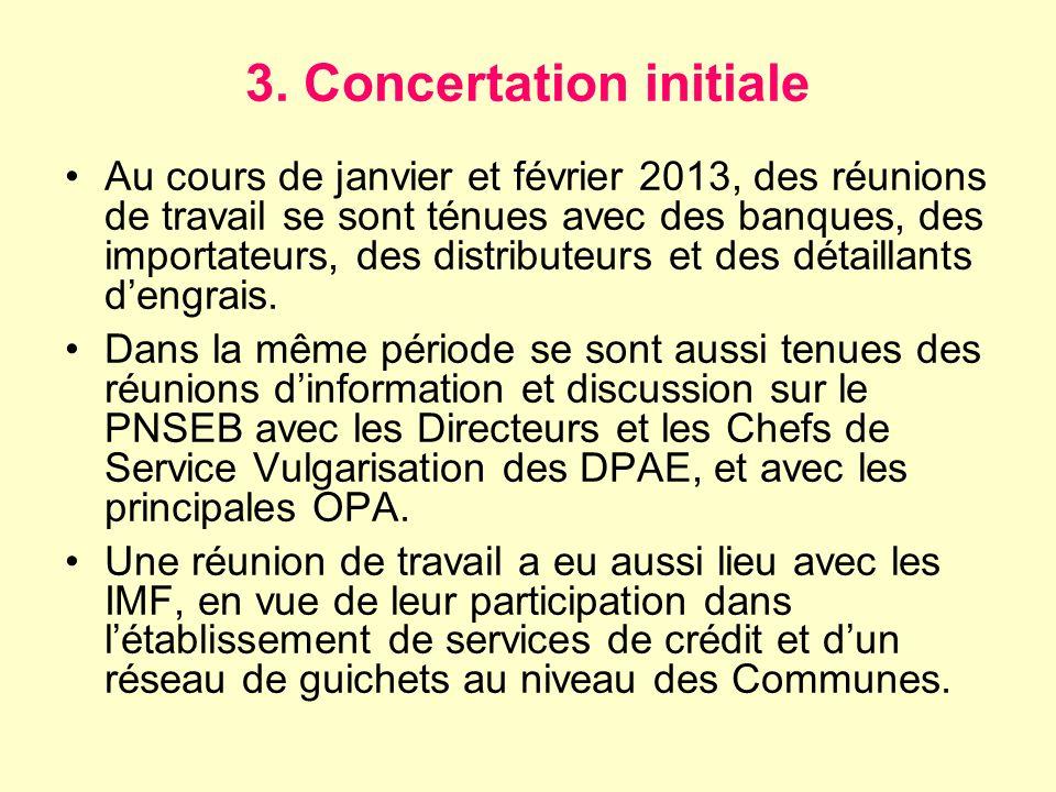 3. Concertation initiale