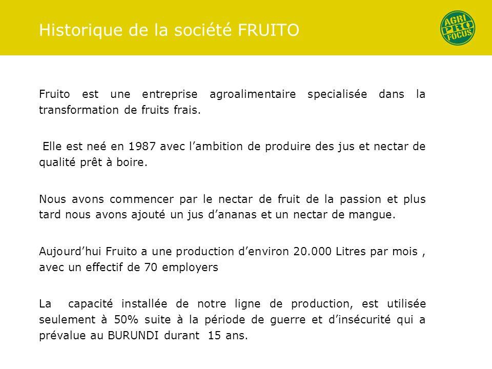 Historique de la société FRUITO