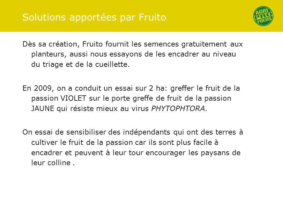 Solutions apportées par Fruito