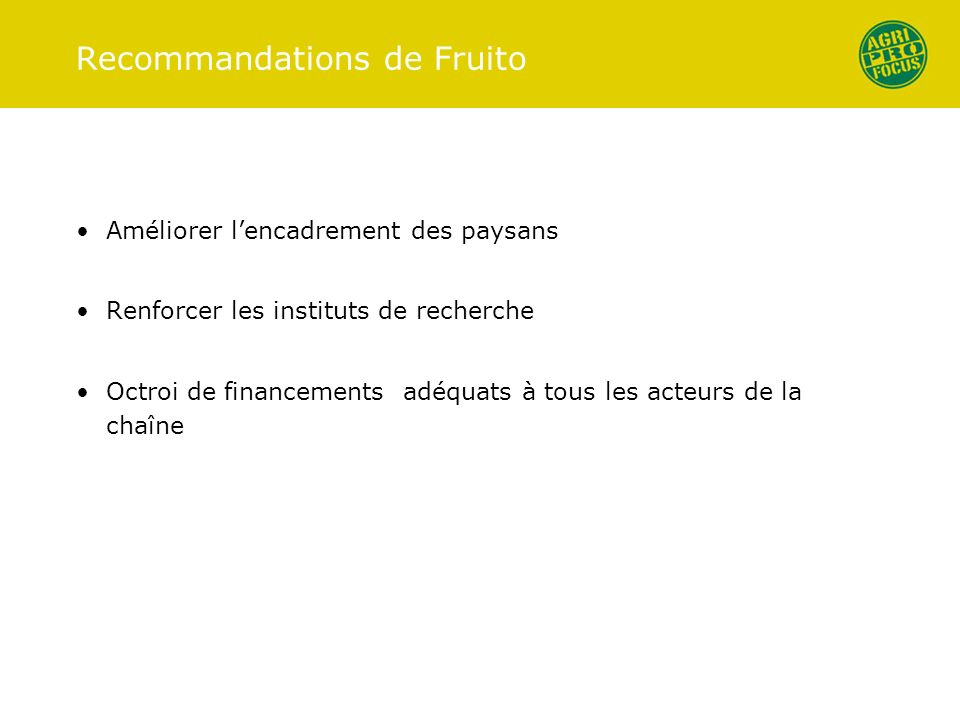Recommandations de Fruito