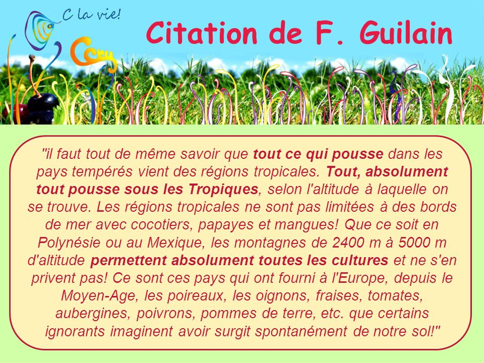 Citation de F. Guilain