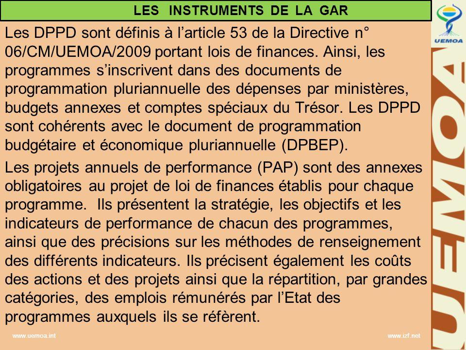 LES INSTRUMENTS DE LA GAR