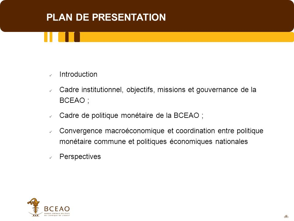 PLAN DE PRESENTATION Introduction