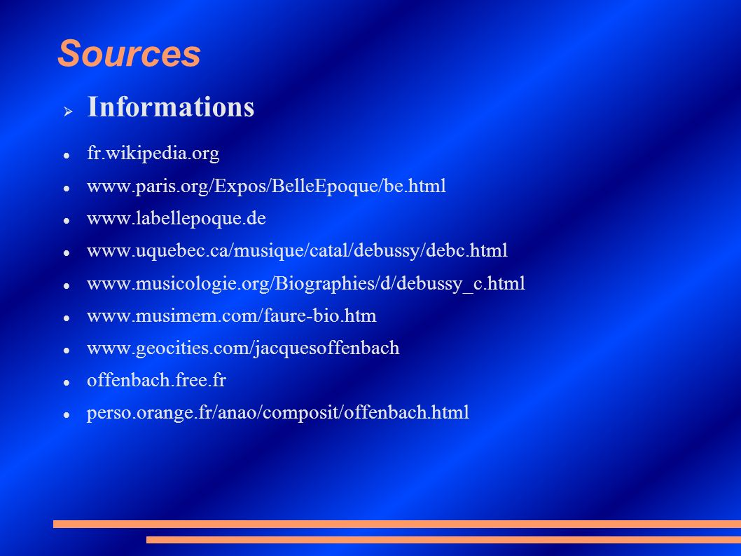Sources Informations fr.wikipedia.org