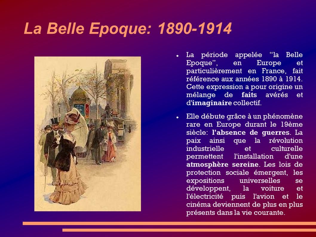 La Belle Epoque: 1890-1914