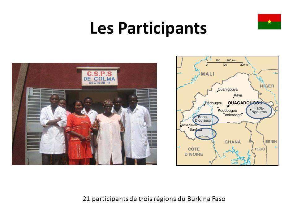 21 participants de trois régions du Burkina Faso