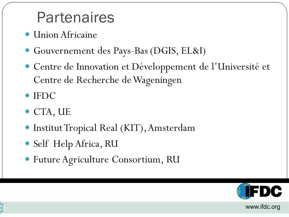 Partenaires Union Africaine Gouvernement des Pays-Bas (DGIS, EL&I)