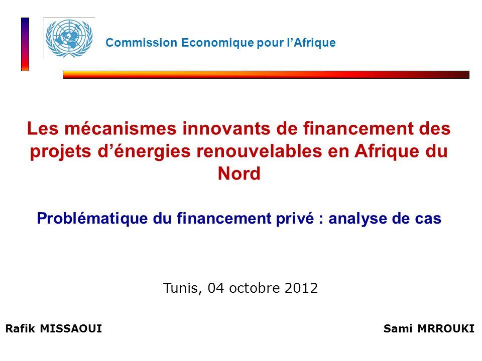 Problématique du financement privé : analyse de cas