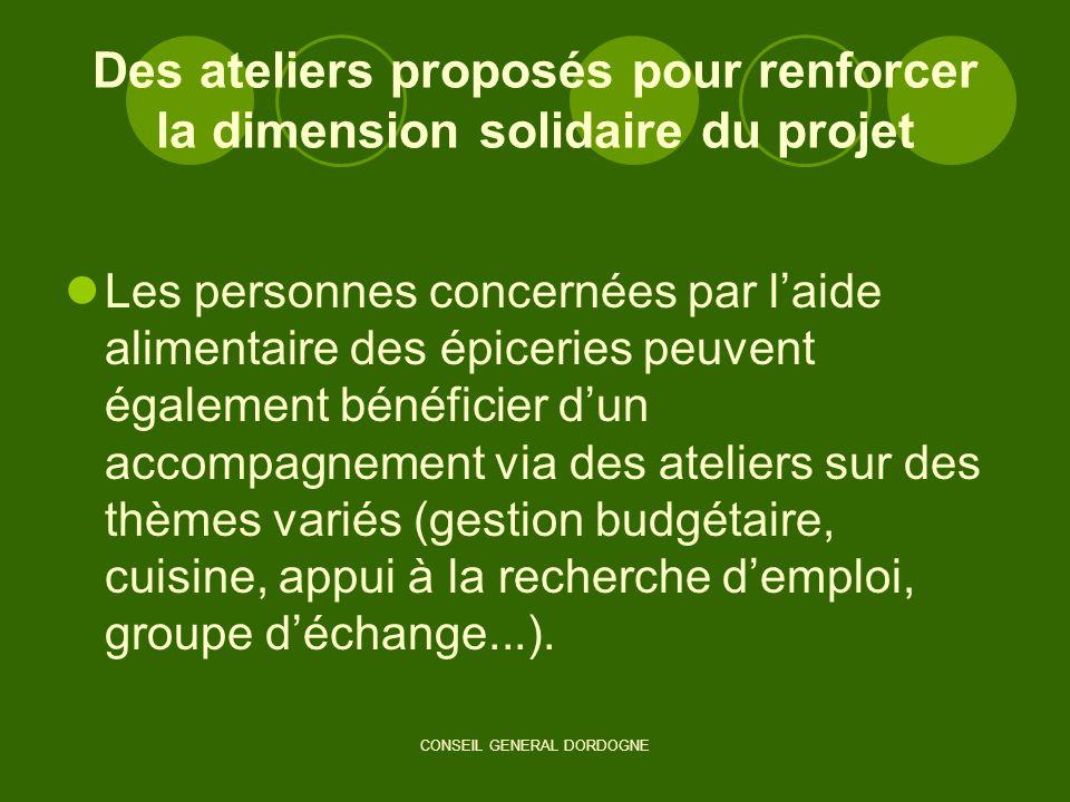 Des ateliers proposés pour renforcer la dimension solidaire du projet