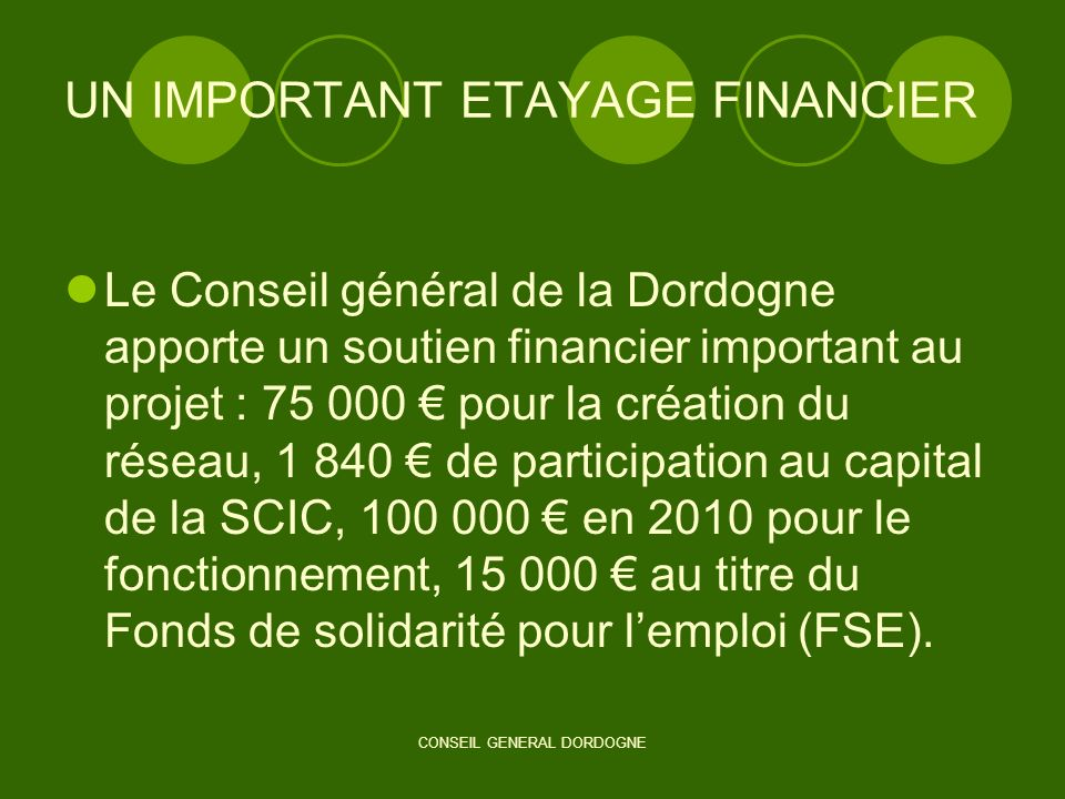 UN IMPORTANT ETAYAGE FINANCIER
