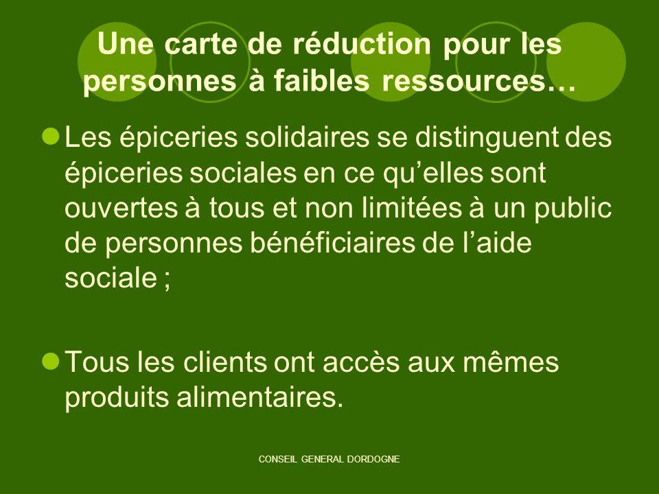 Une carte de réduction pour les personnes à faibles ressources…