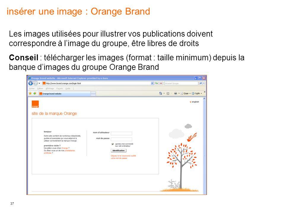 insérer une image : Orange Brand