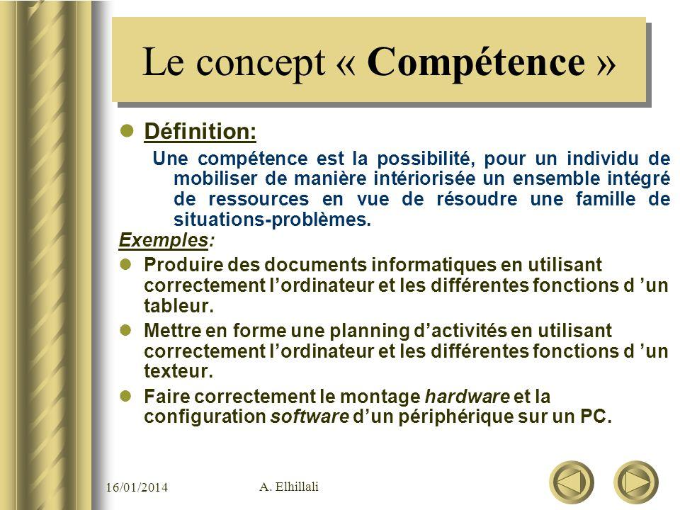 Le concept « Compétence »