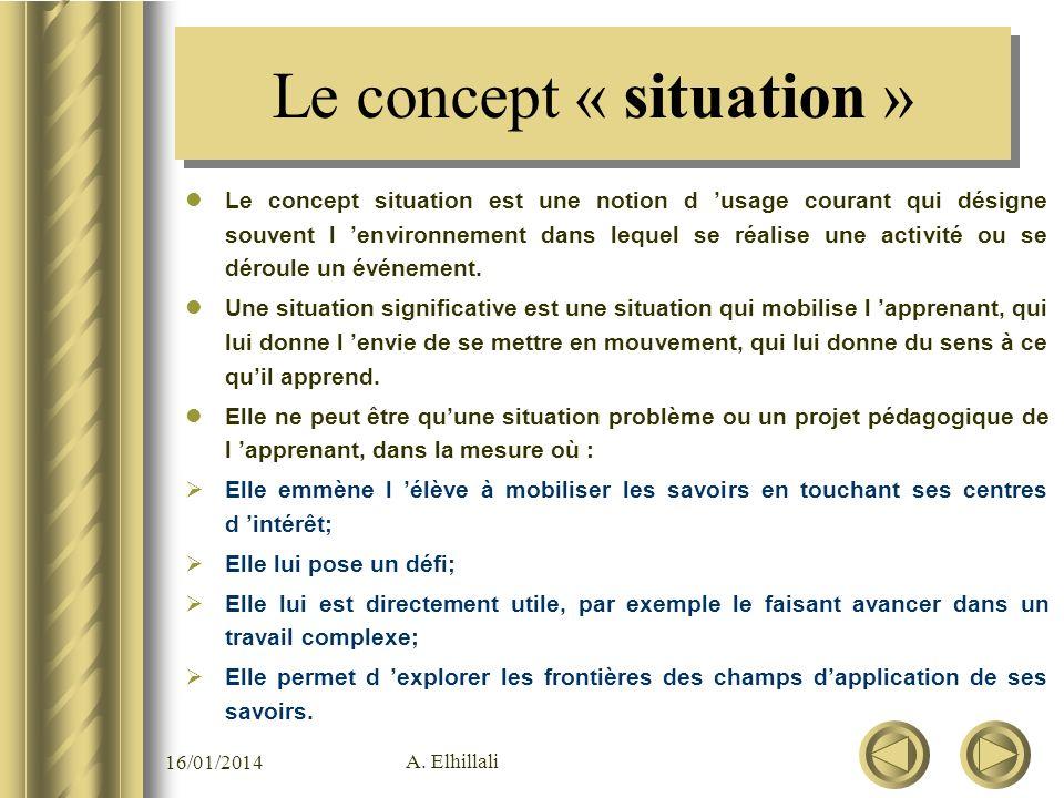 Le concept « situation »