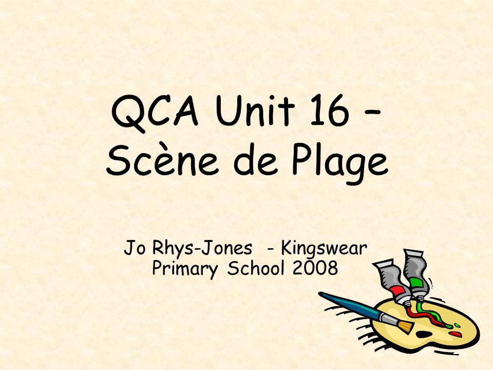QCA Unit 16 – Scène de Plage