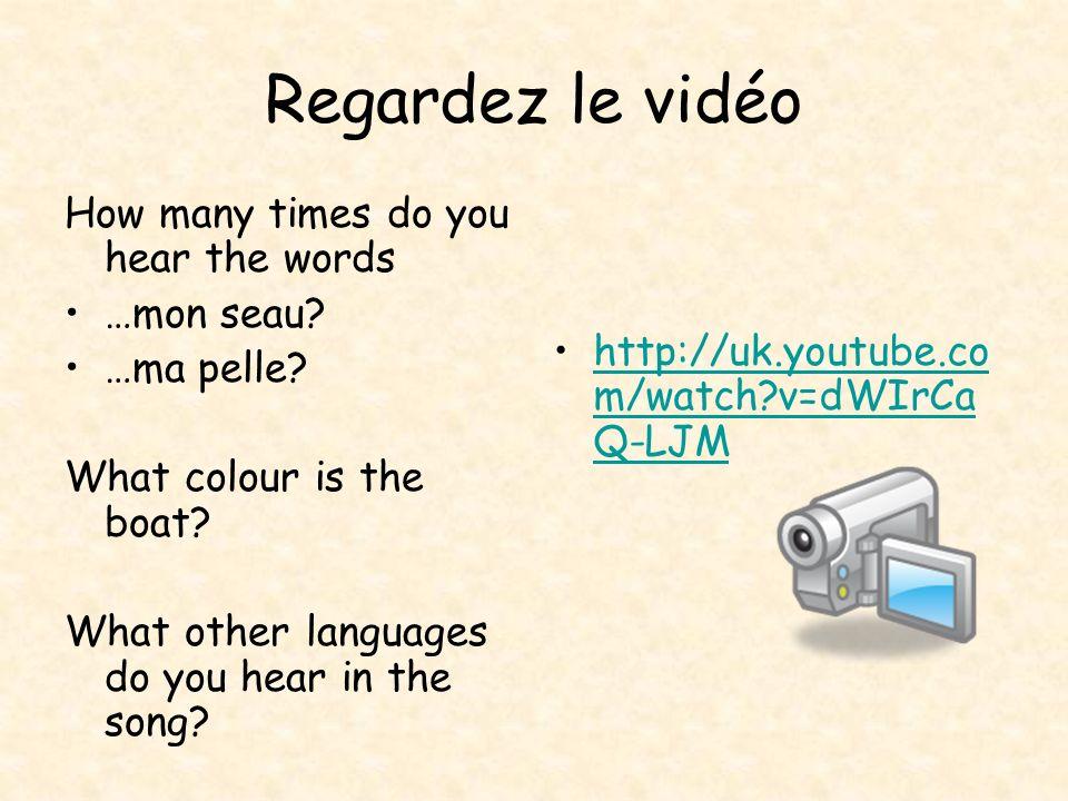 Regardez le vidéo How many times do you hear the words …mon seau