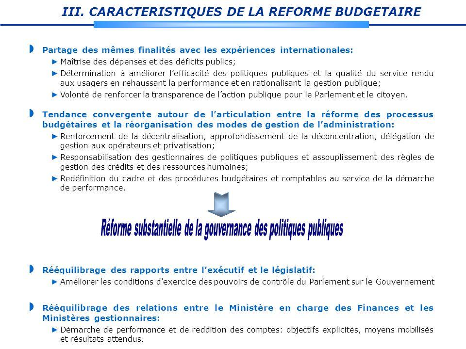 Réforme substantielle de la gouvernance des politiques publiques