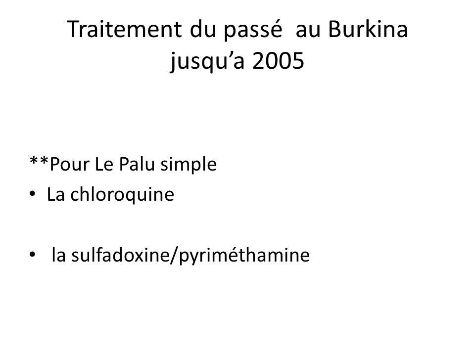 Traitement du passé au Burkina jusqu'a 2005