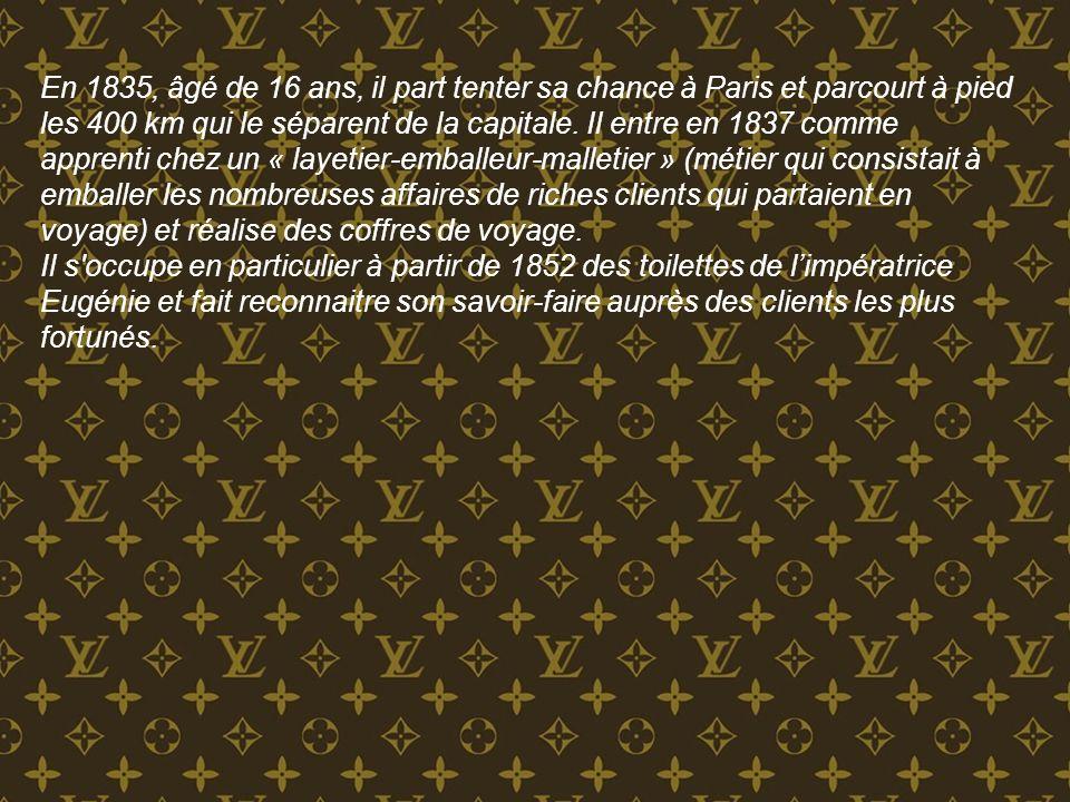 En 1835, âgé de 16 ans, il part tenter sa chance à Paris et parcourt à pied les 400 km qui le séparent de la capitale. Il entre en 1837 comme apprenti chez un « layetier-emballeur-malletier » (métier qui consistait à emballer les nombreuses affaires de riches clients qui partaient en voyage) et réalise des coffres de voyage.