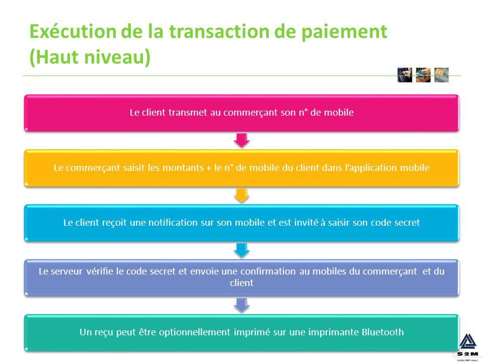 Exécution de la transaction de paiement (Haut niveau)