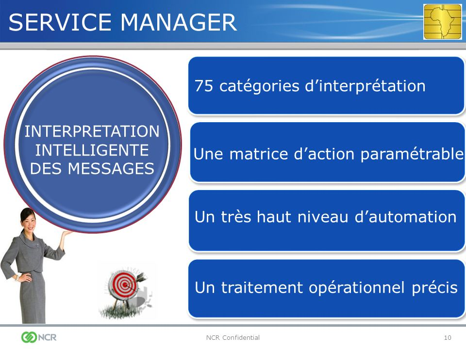 SERVICE MANAGER 75 catégories d'interprétation